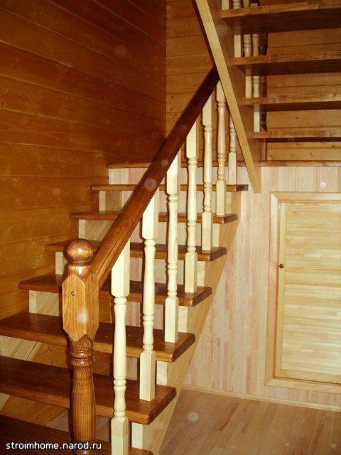 Лестница на второй этаж в садовом доме своими руками